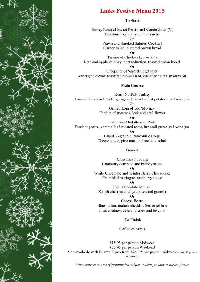 15 Links Festive 4 4 4 menu